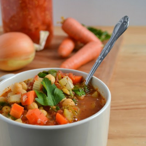 Clean out the Fridge Vegetable Soup