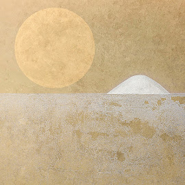 Sandstorm by Katherine Rynor - Digital Art Abstract ( abstract, moon, texture, wall )