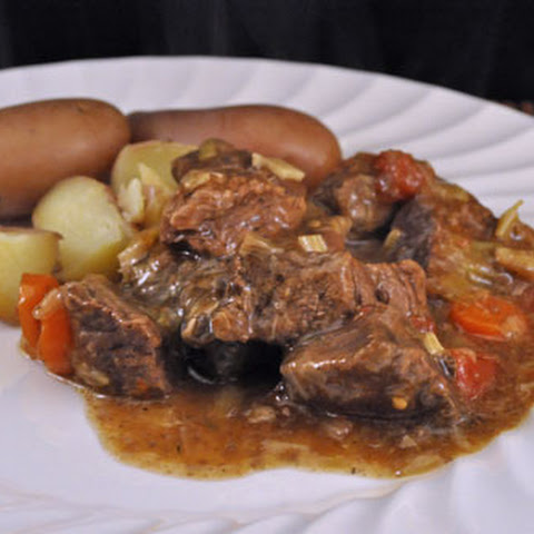 Beef Stewed in White Wine