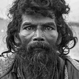 Eyes of despair by Sadiq Abdul - Black & White Portraits & People ( #eyes, #b&w, #potrait, #face, #street, #people, #life )
