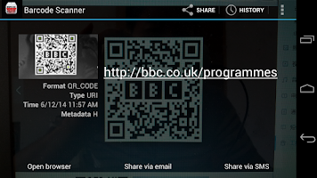 Screenshot of Barcode &QRCode Scanner