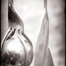 CRYSTAL, FORK AND SPOON by Jody Frankel - Artistic Objects Cups, Plates & Utensils