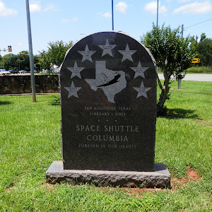 San Augustine, TexasFebruary 1, 2003Space Shuttle ColumbiaForever in Our Hearts Ilan Ramon - Payload Specialist 1Laurel Clark - Mission Specialist 4Michael P. Anderson - Payload Commander 1Rick ...