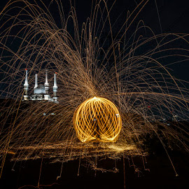 Fireworks by Indrawan Ekomurtomo - Abstract Light Painting