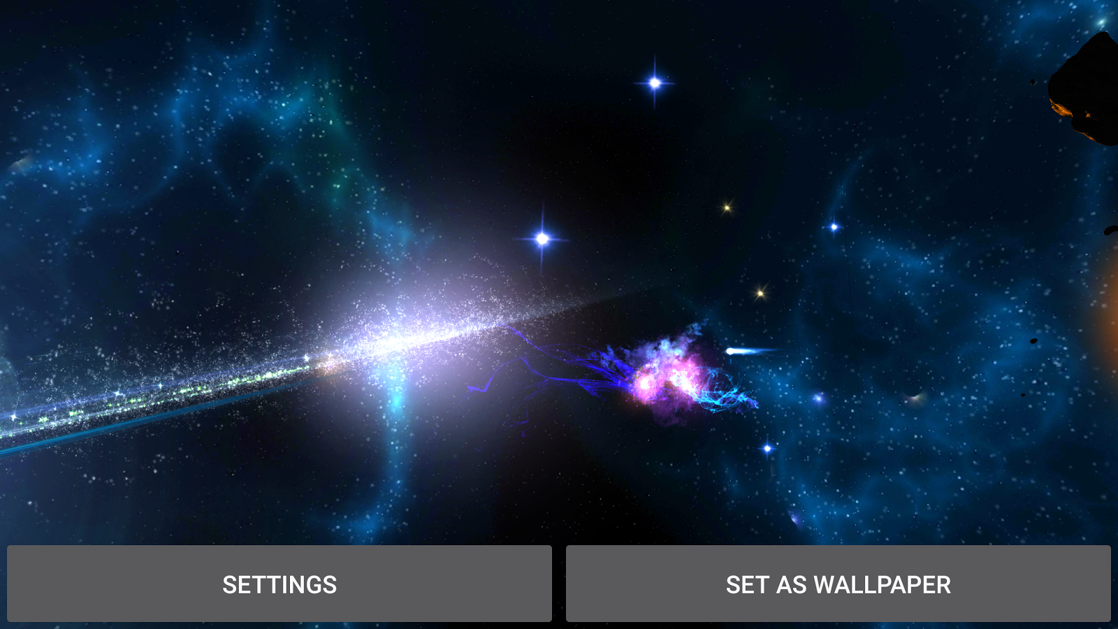 3D Galaxies Exploration LWP Screenshot 13