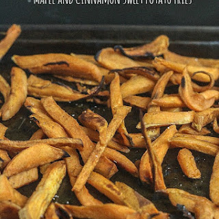 Maple and Cinnamon Sweet Potato Fries