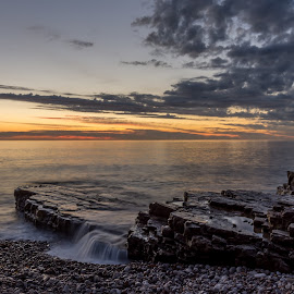 Sunrise at The Wherry by Phil Reay - Landscapes Beaches ( souter, whitburn, sunrise, wherry, stones )