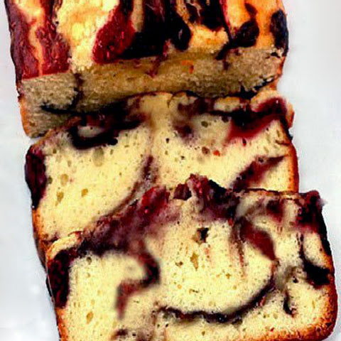 Double Berry Swirl Yogurt Loaf Cake