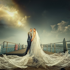 wedding by Dejan Nikolic Fotograf Krusevac - Wedding Bride & Groom ( zurich, vencanje, bright, sunset, wedding, svadba, lake, bridge, bride, fotograf )