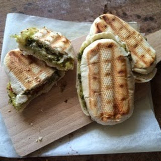 Mini Pesto and Brie Panini