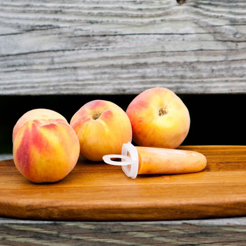 Ginger Peach Popsicles