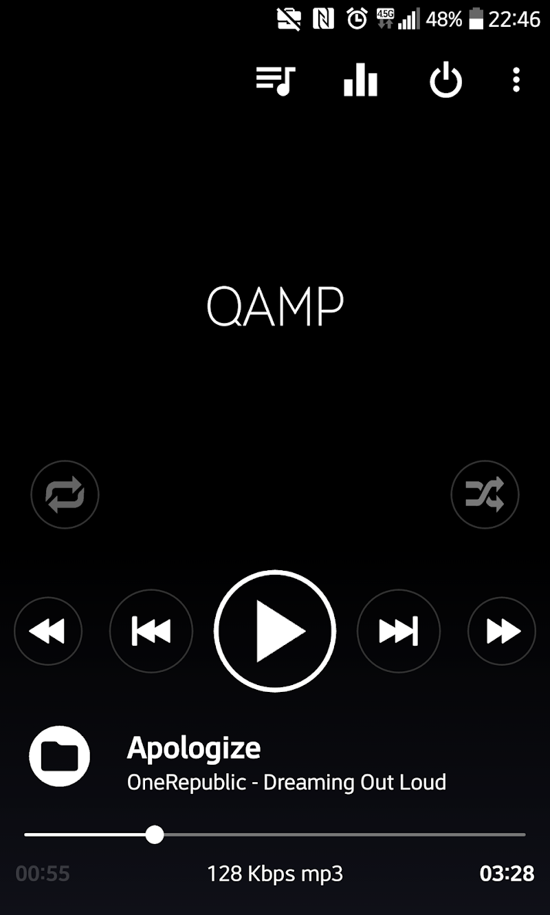 Mp3 player - Qamp Screenshot 0