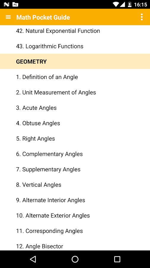Math - complete pocket guide Screenshot 0