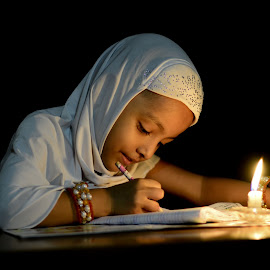 by Sofia Zaman - Babies & Children Children Candids ( pencil, candle light, bangles, people, portrait )