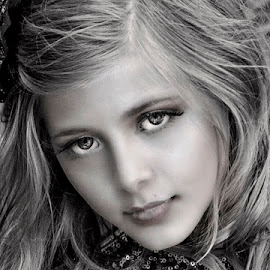 eyes by Sylvester Fourroux - Black & White Portraits & People