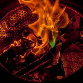 Campfire fun by Ruth Holt - Artistic Objects Other Objects ( colourful, hot, heat, campfire, washing machine, fire, night, flames )