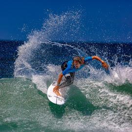 Machado by Mark Ritter - Sports & Fitness Surfing ( surfer, surf, rob machado, moonlight beach, surfing, broam2018, california, wave )