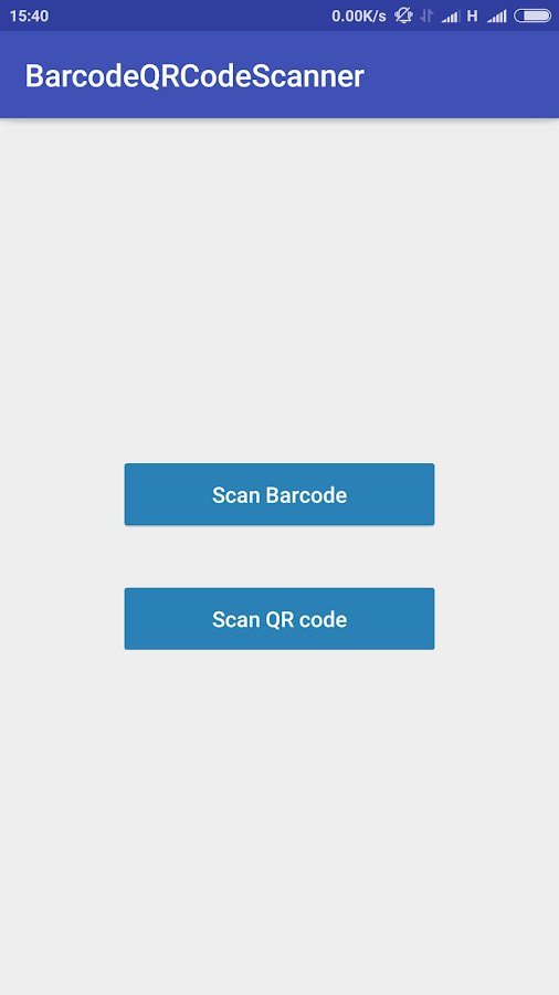 QR Code Scanner BarCode Reader Screenshot 0