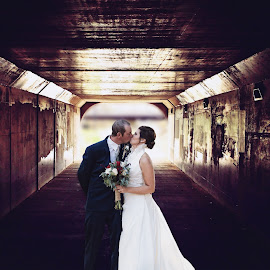 Tunnel of Love by Jane Moore - Wedding Bride & Groom ( central illinois wedding photographer, kankakee wedding photographer, bride and groom )