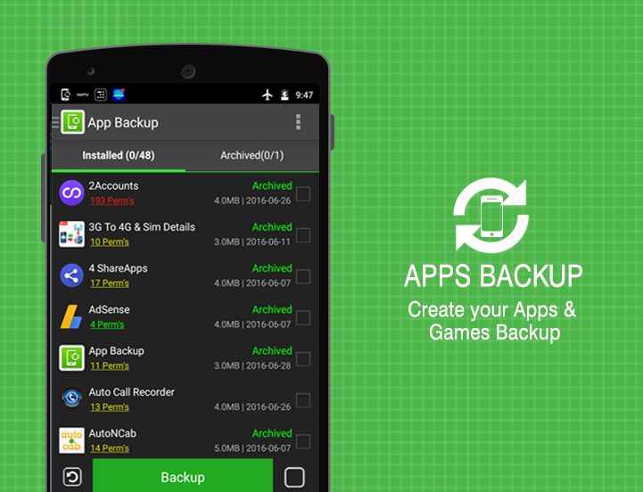 Apps Backup & Restore PRO Screenshot 0