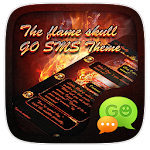 GO SMS THE FLAME SKULL THEME APK Image