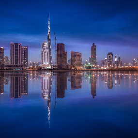 Down Town Burj Khalifa by Walid Ahmad - City,  Street & Park  Night ( uae, dubai city, night, cityscape, photography )