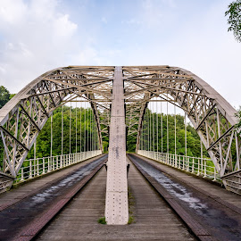 Wylam bridge by Phil Reay - Buildings & Architecture Bridges & Suspended Structures ( wylam, bridge )