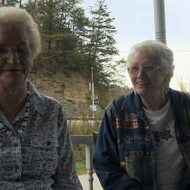 Sisters of the Mountains by Daryl Peck - Novices Only Portraits & People ( old, sisters, elderly, people, outside )