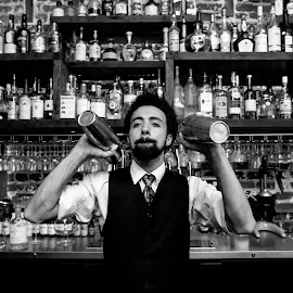 Bartender by Mike Lesnick - People Street & Candids ( kybecca, lesnick photo, candid, street scenes, bartender )