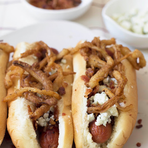 The Ultimate Fried Onion Hot Dog