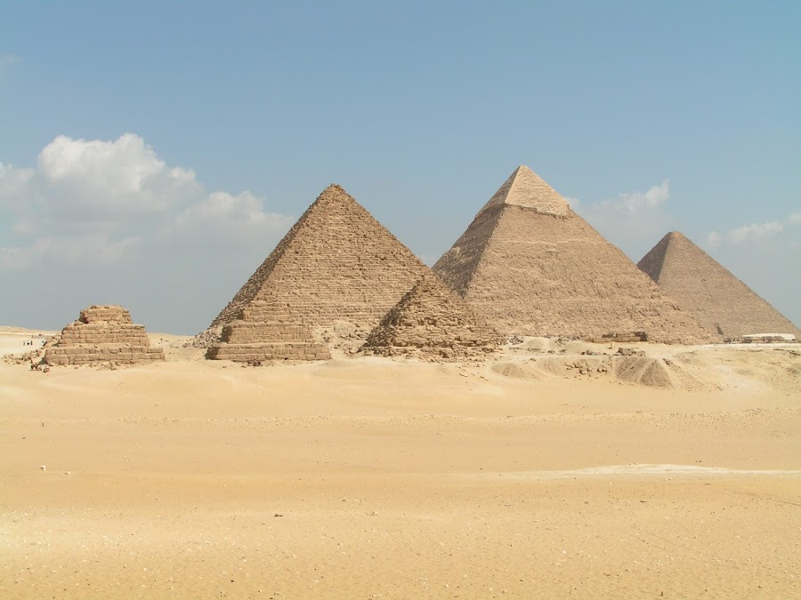 Pyramids of Giza by Gerrit vd Merwe - Novices Only Landscapes