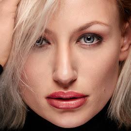 Nika by Michael Strobl - People Portraits of Women ( woman, beauty, blonde, portrait, eyes )