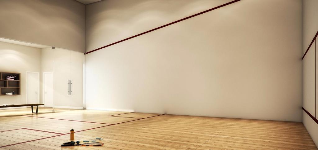 Perspectiva Quadra de Squash