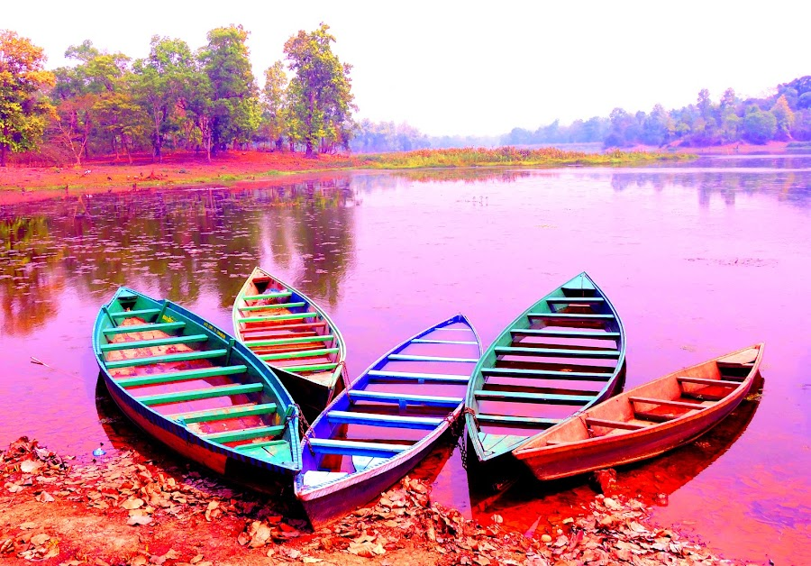 Boats by SANGEETA MENA  - Digital Art Things