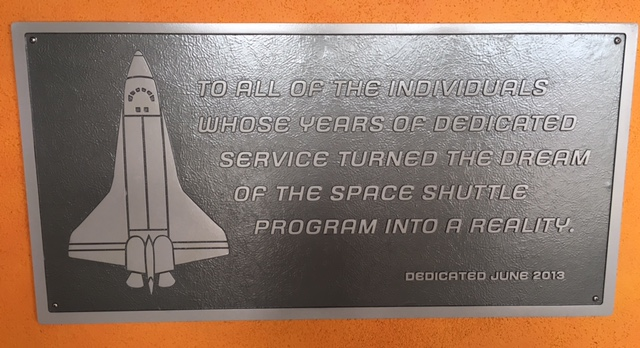 To all of the individuals whose years of dedicated service turned the dream of the Space Shuttleprogram into a reality Dedicated June 2013  Submitted by Gilda Spitz