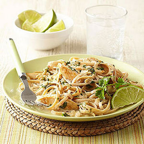 Creamy Coconut-Lime Chicken with Pasta