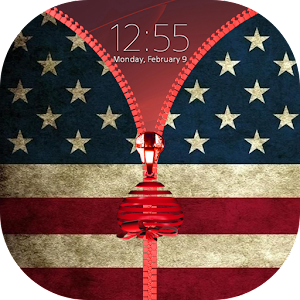 American Zipper Lock Screen
