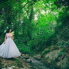 Nature bride by SOTIRIOS SARAFIS - Wedding Bride ( photooftheday, wedding dress, wedding photography, wedding photographer, photoshop art, pose, weddings, photo, photoshop, portrait, photos, people, photograph, photographer, wedding, poses, photography )