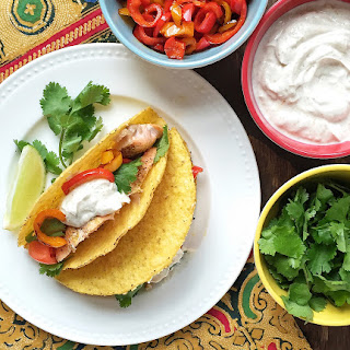 Smoky Salmon Tacos with Greek Yogurt Sauce