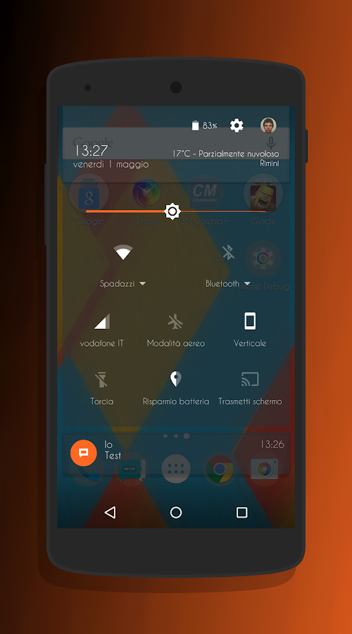Transparent Orange -CM13 Theme Screenshot 2