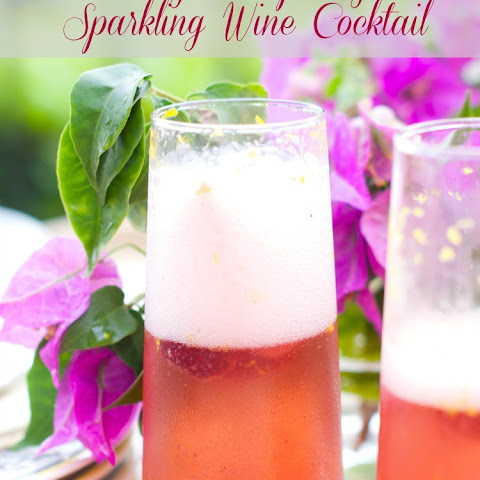 Orange Raspberry Sparkling Wine Cocktail