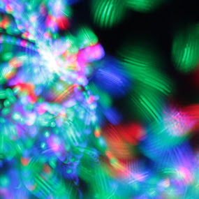 Lights in the Dark by Nick Massar - Abstract Fine Art ( abstract, lights, red, blue, green, fine art, nickolasmassar )