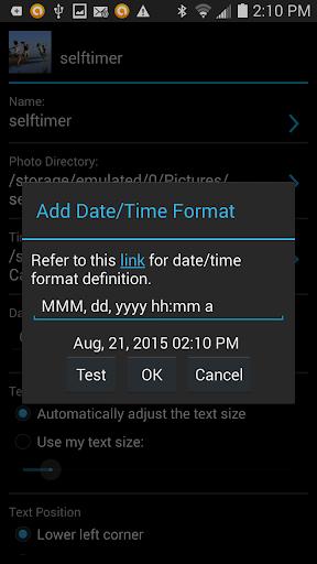 Camera Timestamp Add-on - screenshot