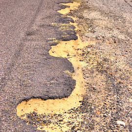 Road Side Curves by Ella Kingston - Transportation Roads ( asphalt, pattern, road, gravel, curves, country road,  )