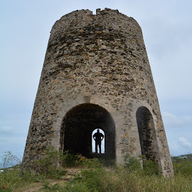 by Liz Rosas - Buildings & Architecture Public & Historical ( coral, vacation, st. croix, sugar mill, cotton valley, ocean, beach, caribbean, virgin islands )