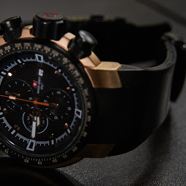 Tachymeter Rose Gold Watch by Alvin Theopilus - Artistic Objects Clothing & Accessories ( gold watch, watch, sport watch, rose gold )