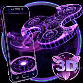 3D Fidget Spinner Neon Hologram Theme APK for Blackberry