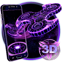 3D Fidget Spinner Neon Hologram Theme For PC
