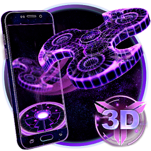 3D Fidget Spinner Neon Hologram Theme For PC (Windows & MAC)