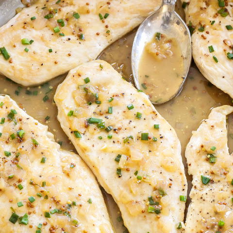 Sautéed Chicken Cutlets with Honey Mustard Pan Sauce
